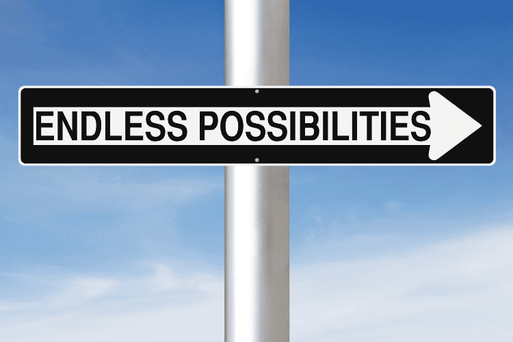 Endless possibilities sign representing enneatype 7