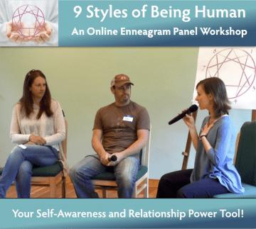 9 Styles of Being Human Graphic Online Enneagram Panel Workshop